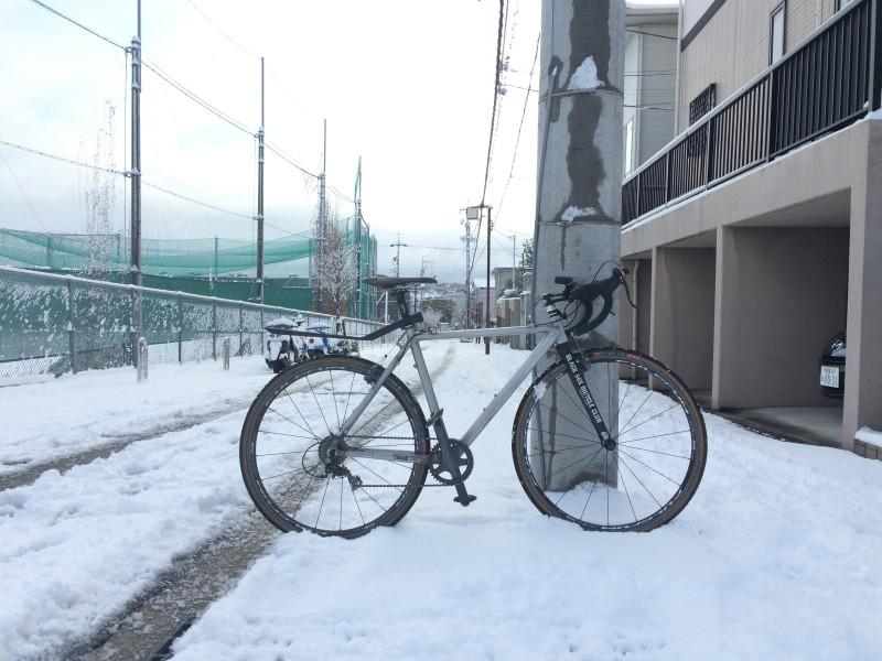 雪の日の自転車事情