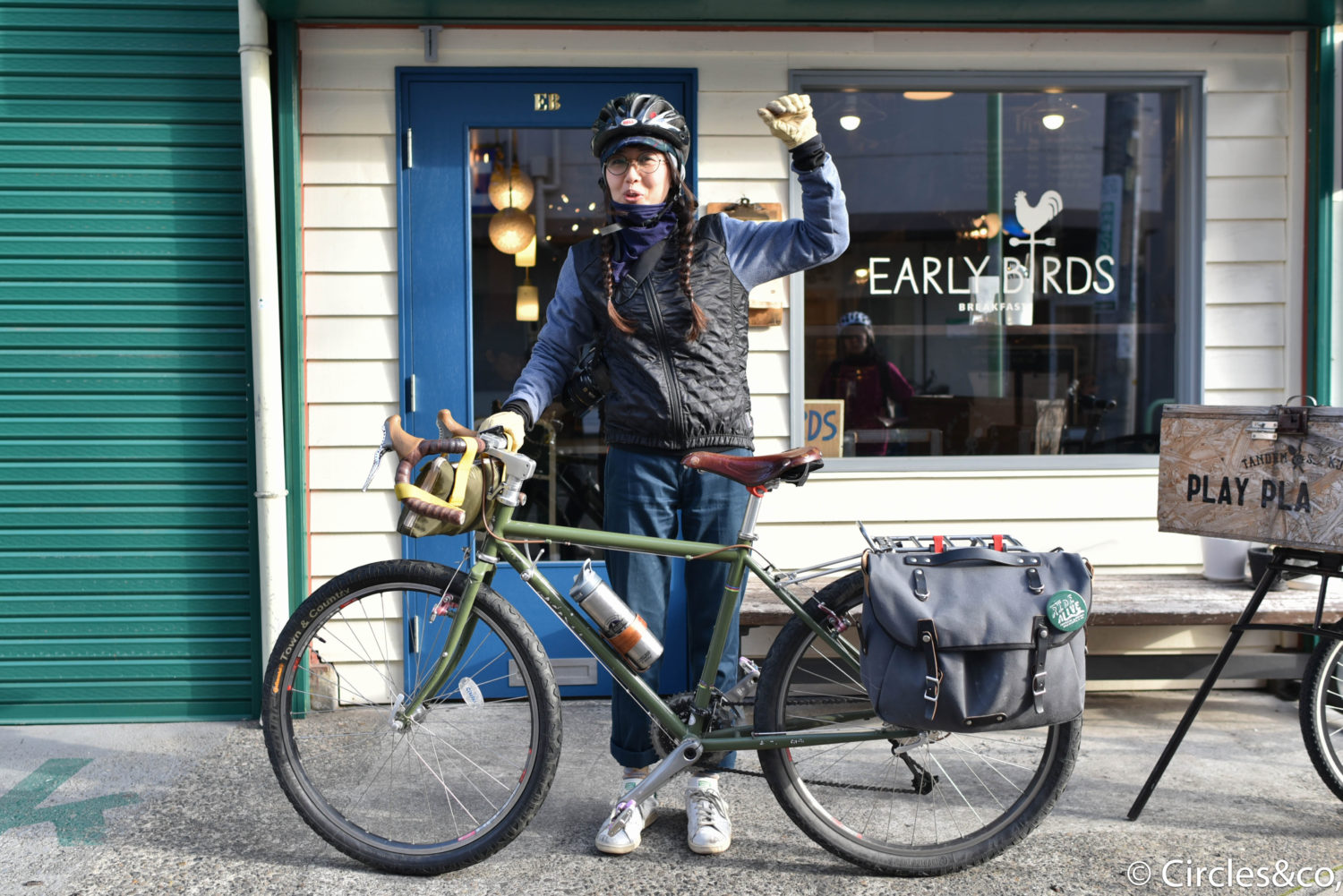 Manami with Surly Long Haul Trucker